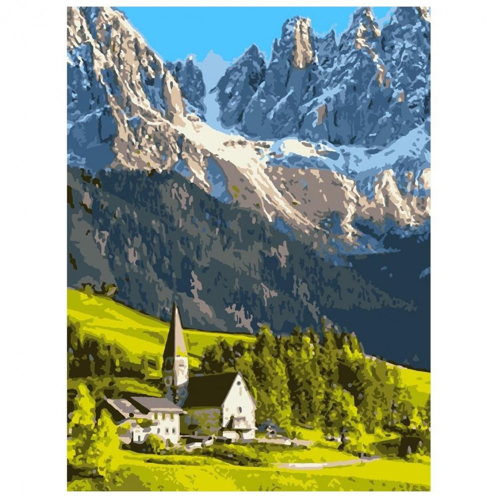 Фото - Картина по номерам Lori Домик в горах, 38х28,5 см картина по номерам lori любопытный щенок 28 5х20 см