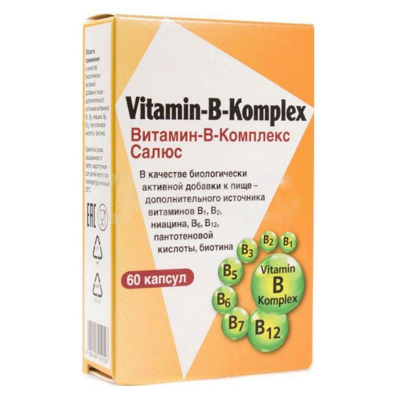 Комплекс витаминов группы В, 60 капсул, ТМ Salus-Haus