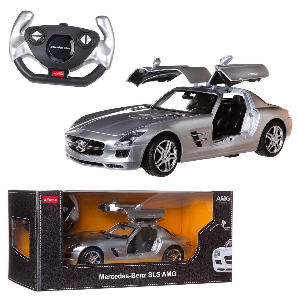 """Машина на радиоуправлении Rastar """"Mercedes-Benz SLS AMG"""", цвет: серебряный, 40MHZ, 1:14"""