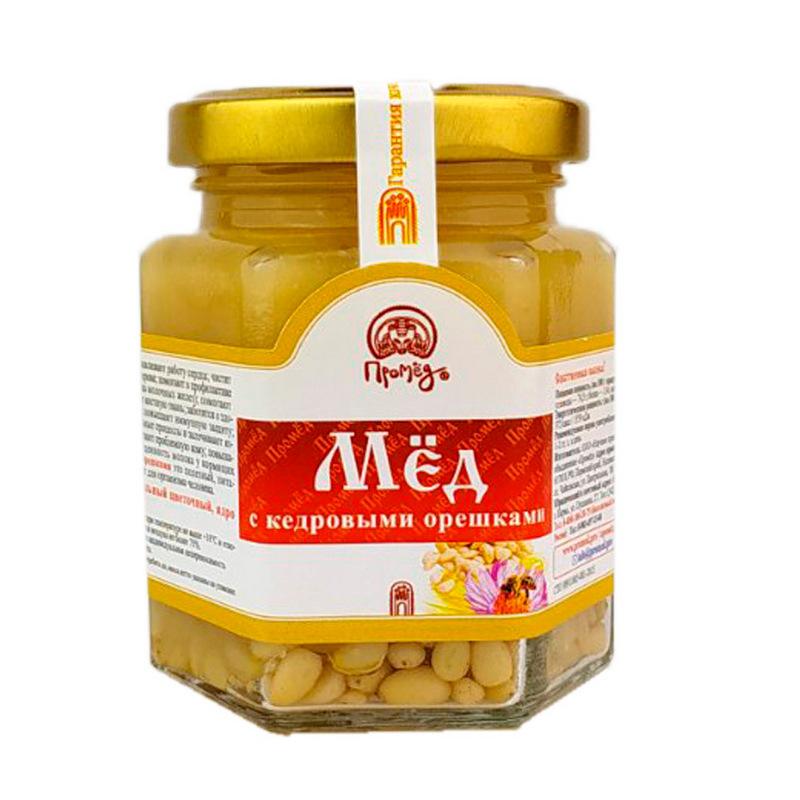 Фото - Мёд цветочный Промёд С кедровыми орешками, 250 г tomtom брускетта из вяленых томатов с кедровыми орешками 140 г