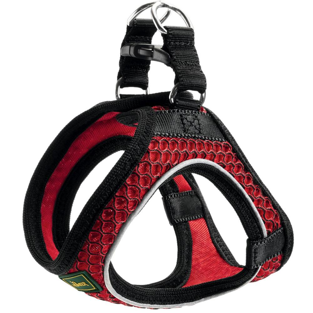 """Шлейка для собак Hunter """"Hilo Comfort"""", 52-58 см, сетчатый текстиль, красная"""
