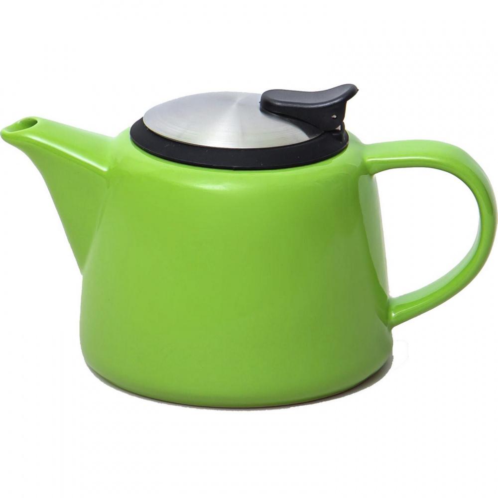Чайник заварочный Elrington Феличита, с фильтром, глазурь зеленый, 600 мл доляна чайник заварочный восточная ночь 600 мл зеленый