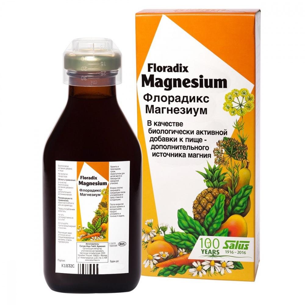 Тоник витаминосодержащий Флорадикс Магнезиум, 250 мл, ТМ Salus-Haus