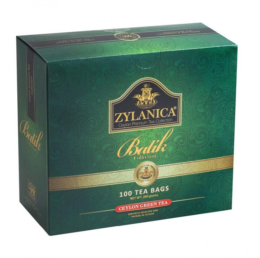 Чай Zylanica Batik Collection, зелёный, 100 пакетиков