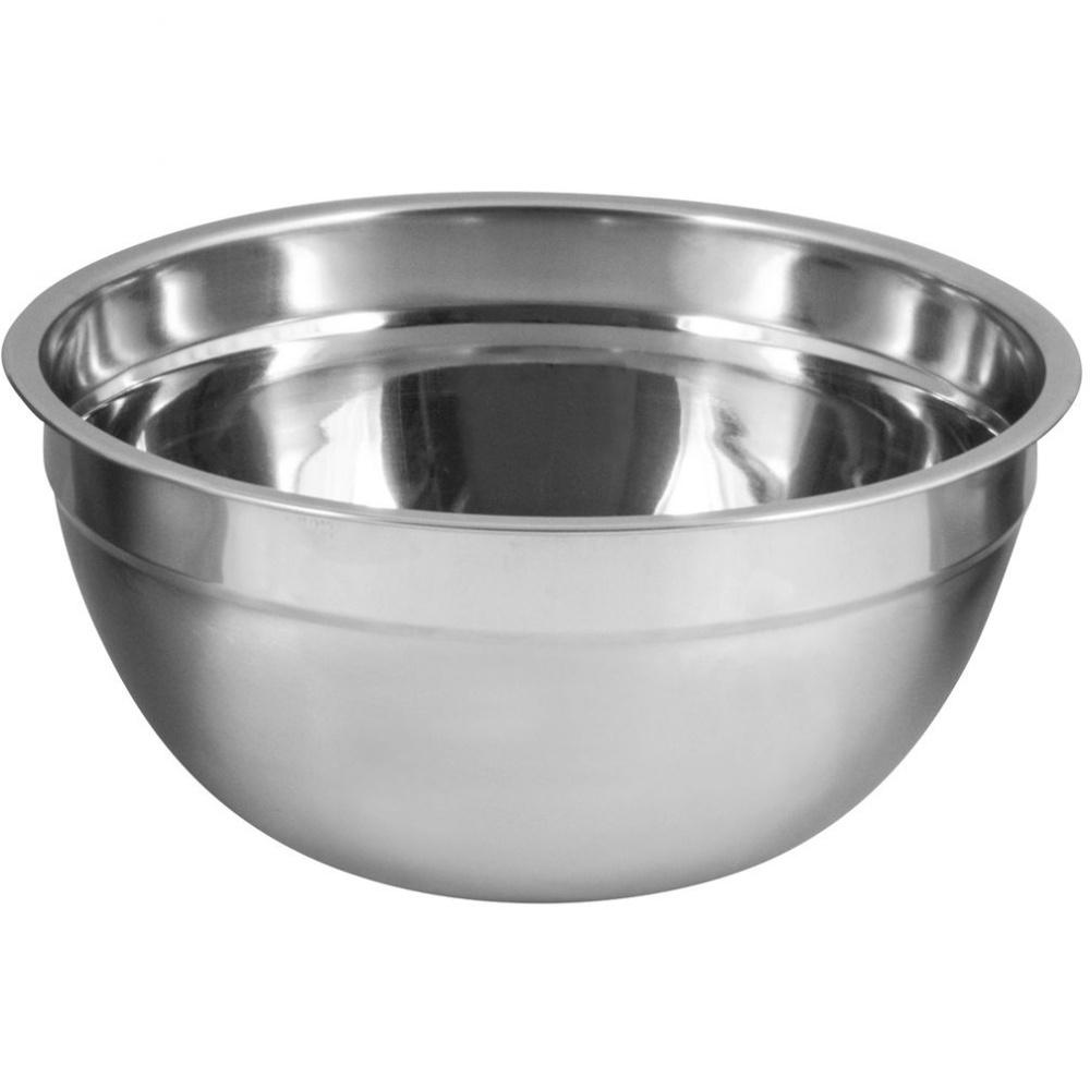 Миска нержавеющая, Bowl-ring-22, 2,5 л, смешанная полировка, d 22 см, ТМ