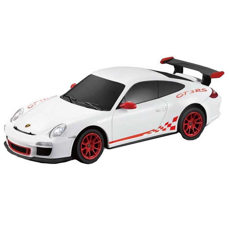 """Машина на радиоуправлении Rastar """"Porsche GT3 RS"""", 18 см, цвет: белый, 27MHZ 1:24"""
