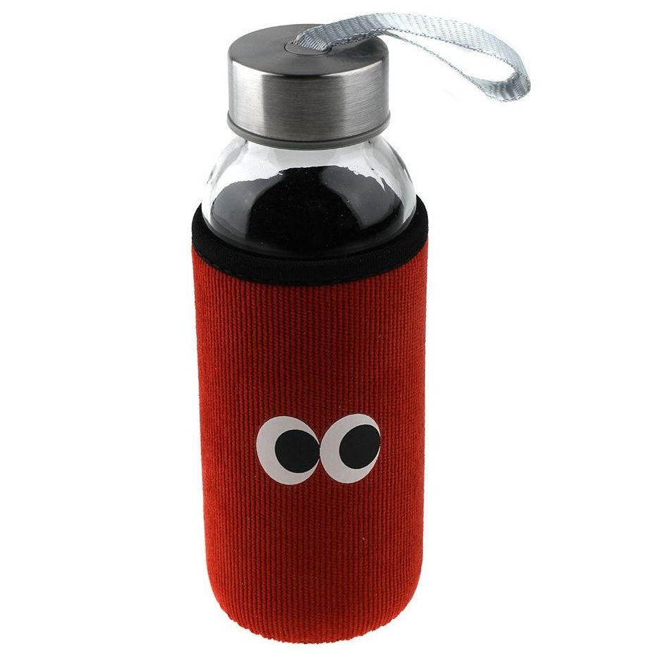 Бутылка для воды Konono, в чехле, красная, 380 мл