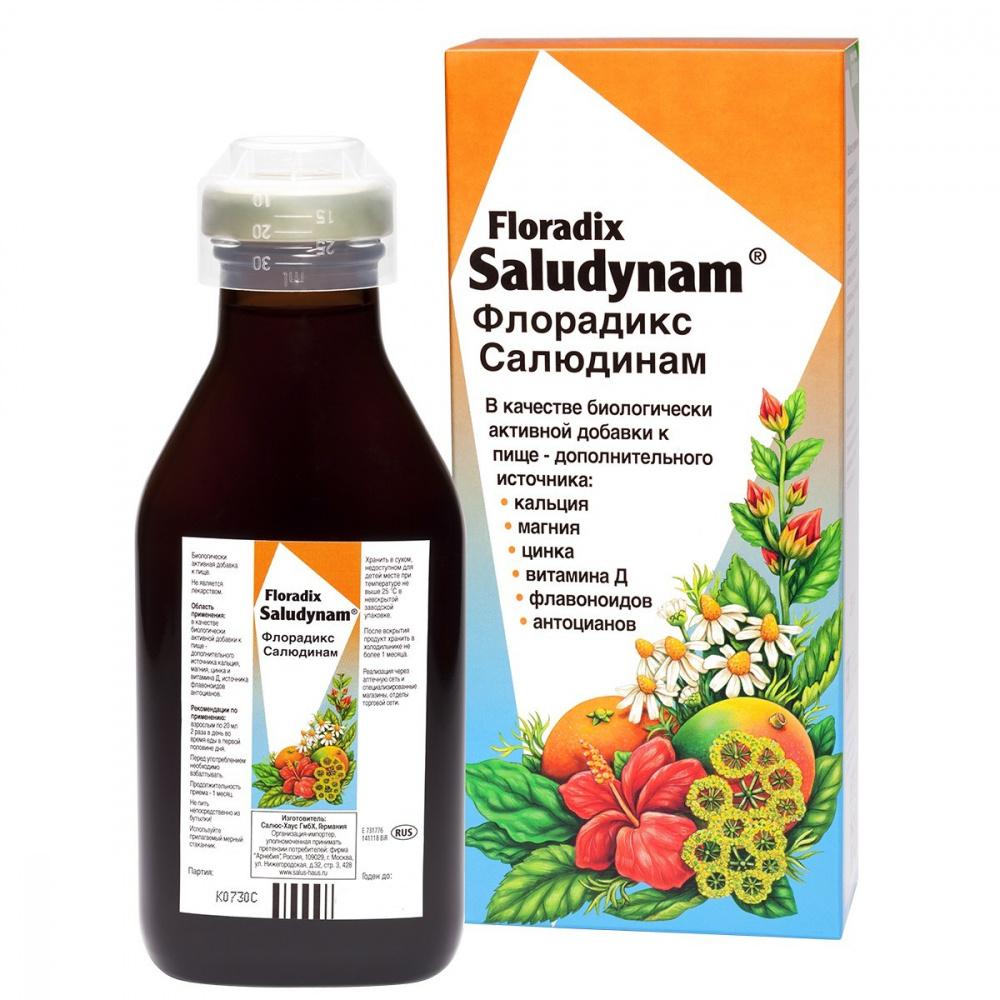 Тоник витаминосодержащий Флорадикс Салюдинам, 250 мл, ТМ Salus-Haus