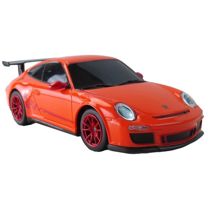 """Машина на радиоуправлении Rastar """"Porsche GT3 RS"""", 18 см, цвет: оранжевый, 40MHZ, 1:24"""