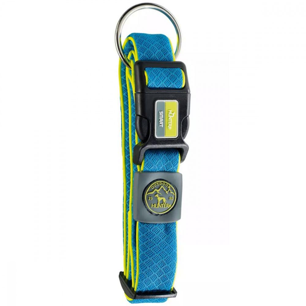 """Ошейник для собак Hunter """"Maui"""", размер: L, 42-65 см, ширина 3,2 см, сетчатый текстиль, голубой"""