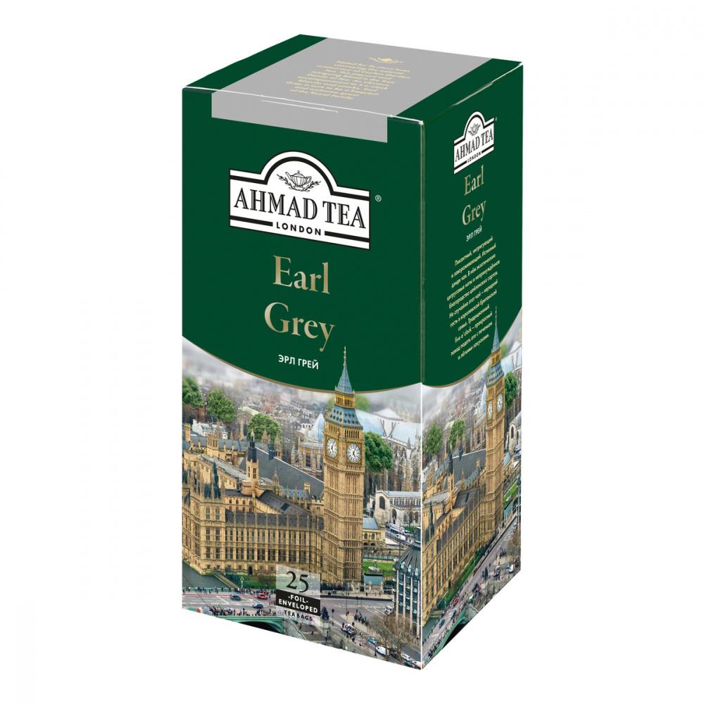 Чай Ahmad Earl Grey, черный с бергамотом, 25 пакетиков чай черный lipton earl grey с бергамотом 25 пакетиков