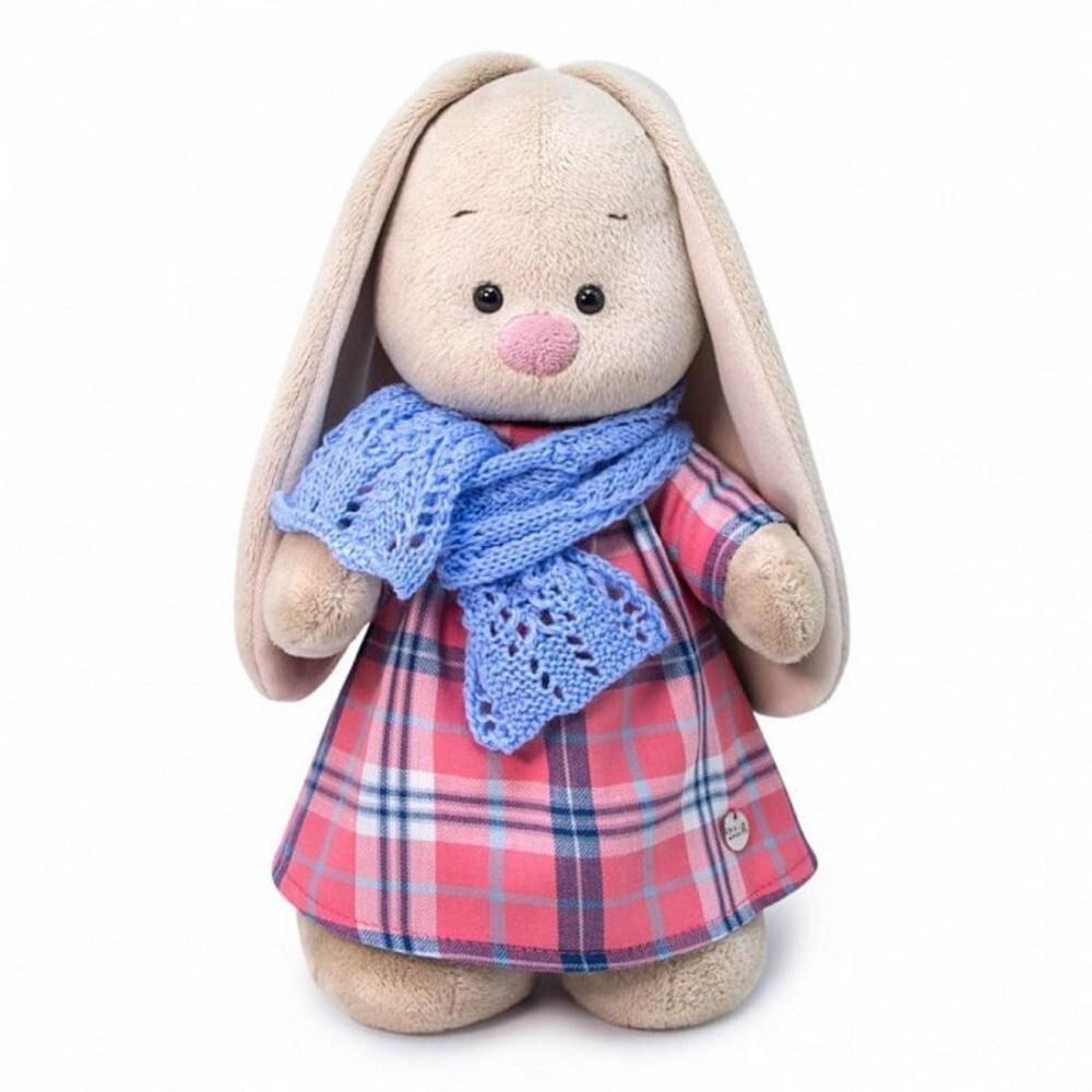 Мягкая игрушка Зайка Ми В голубом шарфе, малая, 25 см