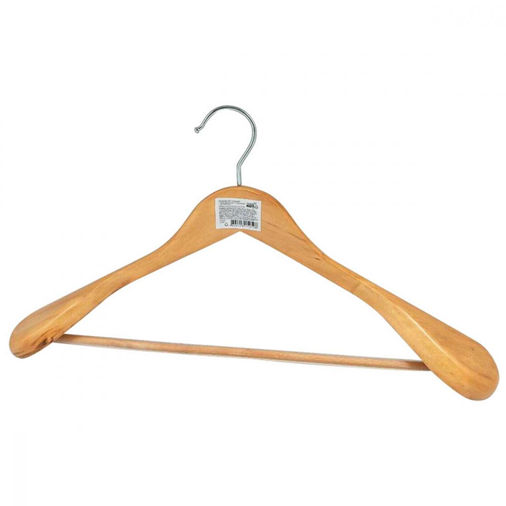 Вешалка-плечики для одежды, с перекладиной, дерево, ТМ