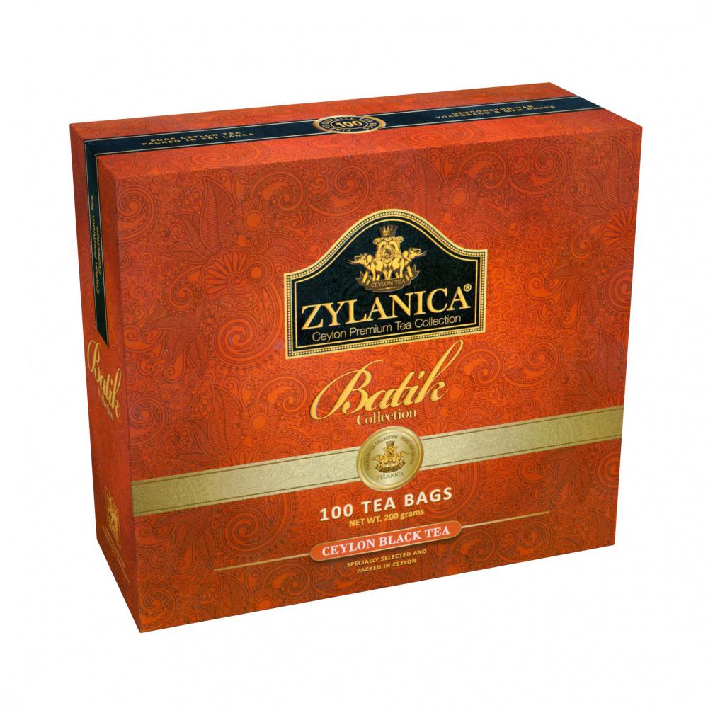 Чай Zylanica Batik Collection, чёрный, 100 пакетиков