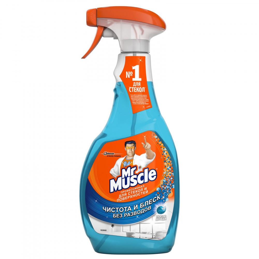 Средство для чистки стекол и поверхностей Mr Muscle, со спиртом, 500 мл