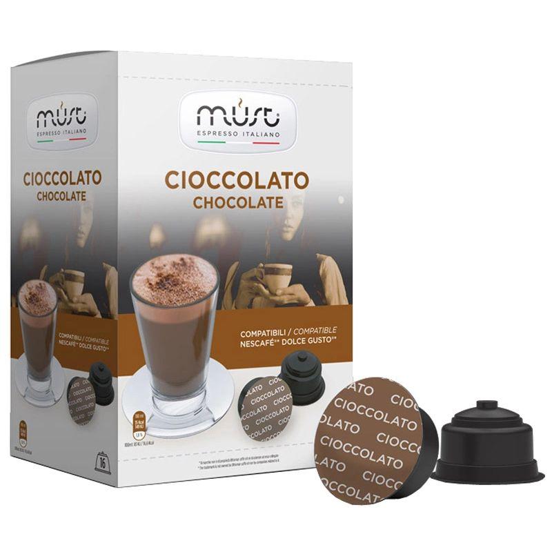 Шоколад в капсулах для кофемашин Dolce Gusto Must Cioccolato, 16 шт