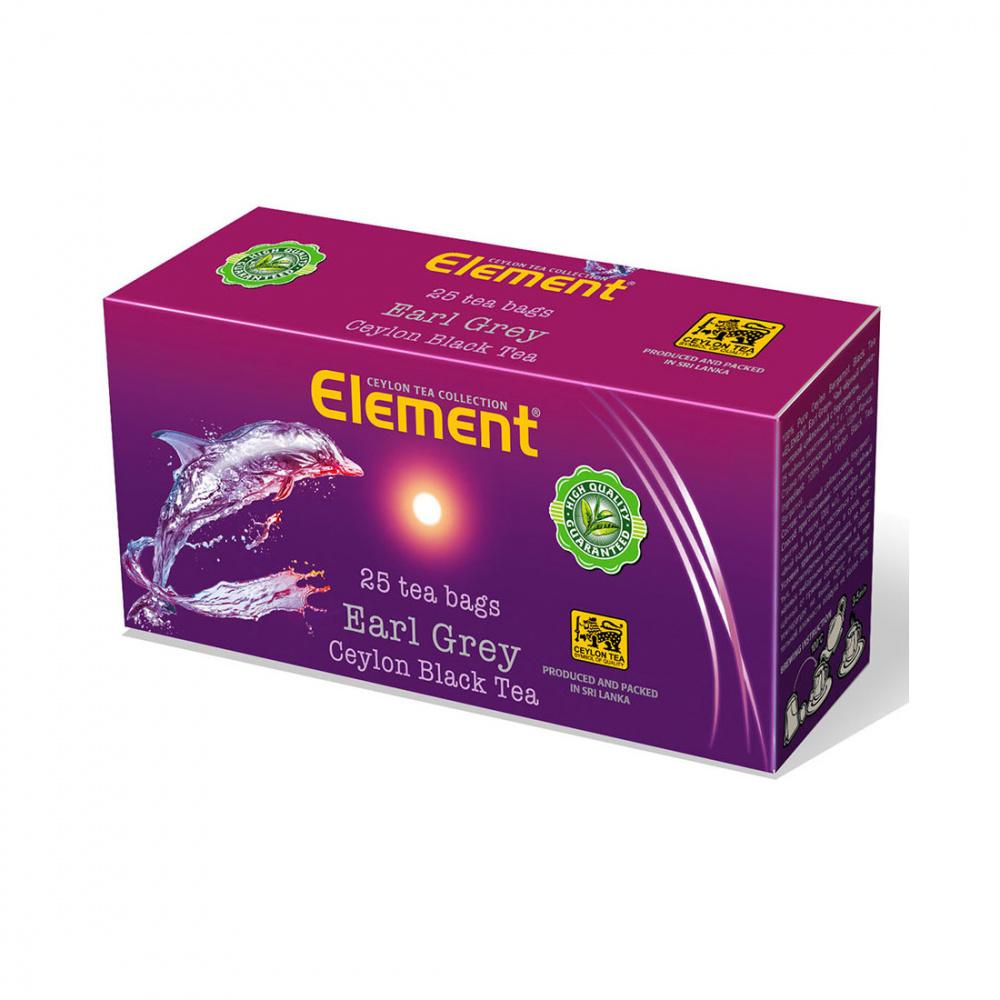 Чай Element Earl Grey, чёрный с бергамотом, 25 пакетиков чай черный lipton earl grey с бергамотом 25 пакетиков