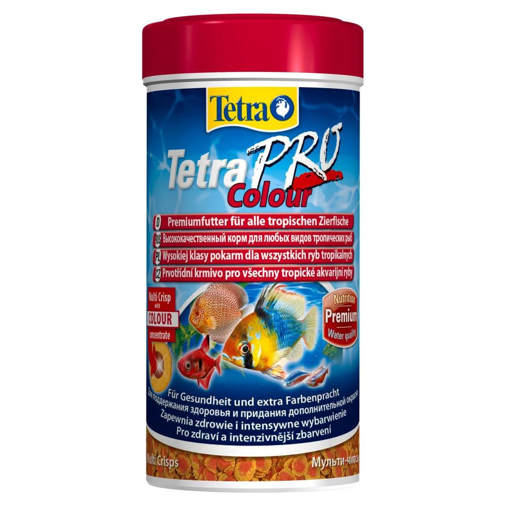 Фото - Корм для декоративных рыб Tetra Pro Color Crisps, для улучшения окраса, в чипсах, 250 мл tetra корм tetra pro color crisps чипсы для улучшения окраса всех декоративных рыб 100 мл