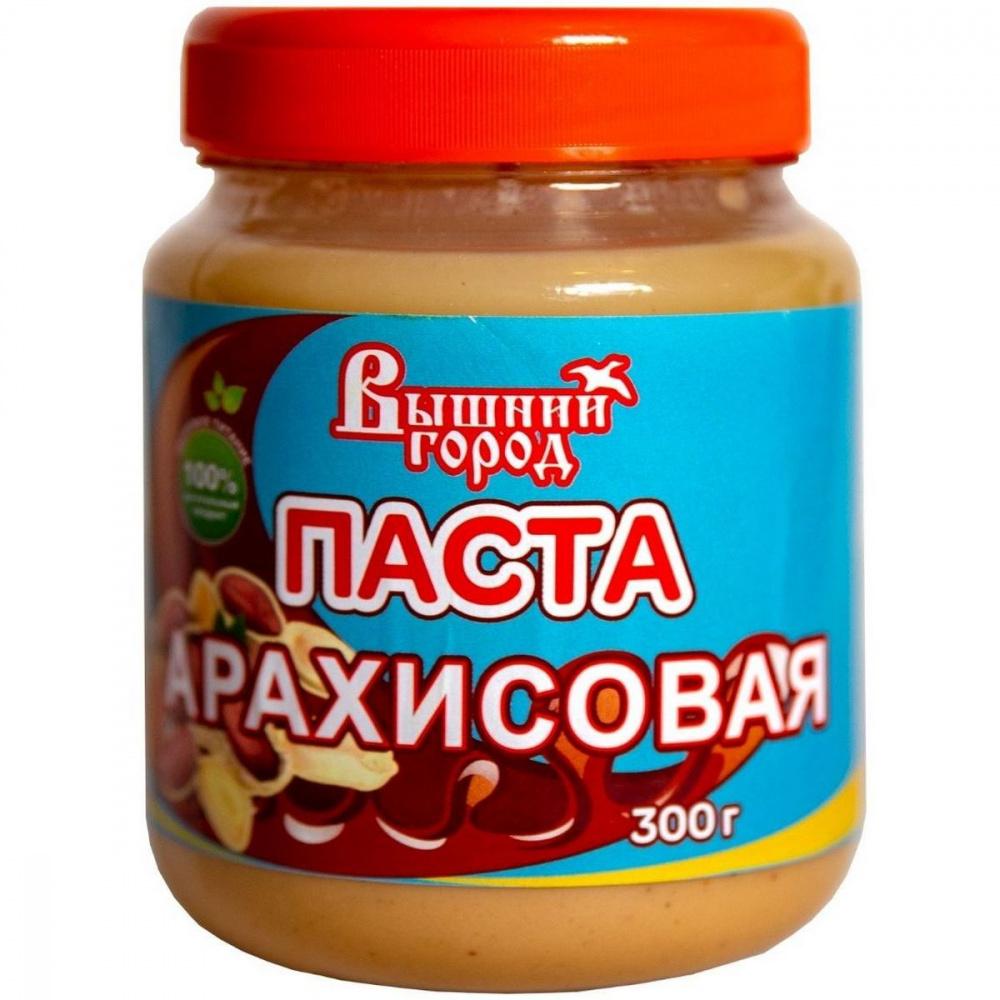 Паста арахисовая Вышний город, 300 г grizzly nuts арахисовая паста с ванилью и изюмом vanilla sky 370 г