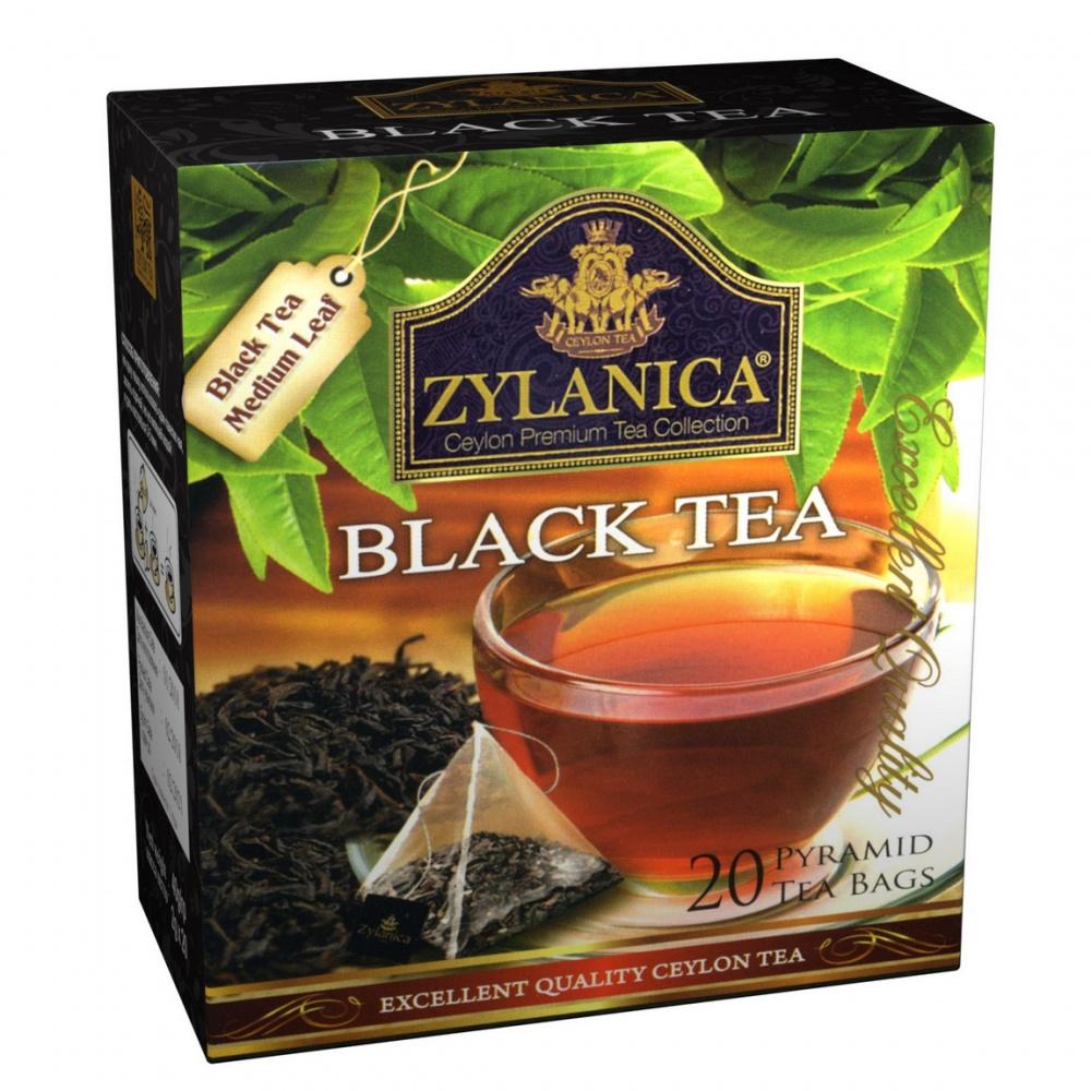 Чай Zylanica Black tea, чёрный, 20 пирамидок