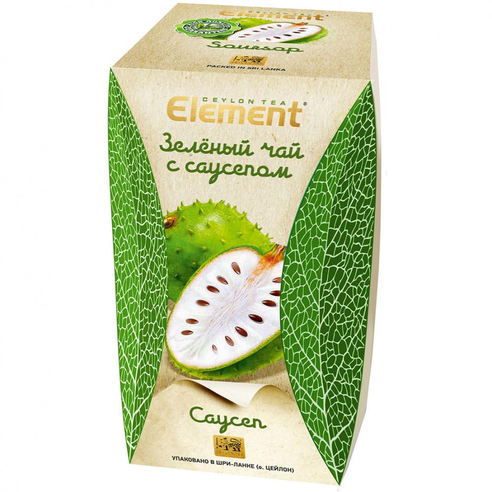 Чай зеленый Element Саусеп, среднелистовой, с добавками, 100 г чай хайсон саусеп чёрный листовой c добавками 100г карт