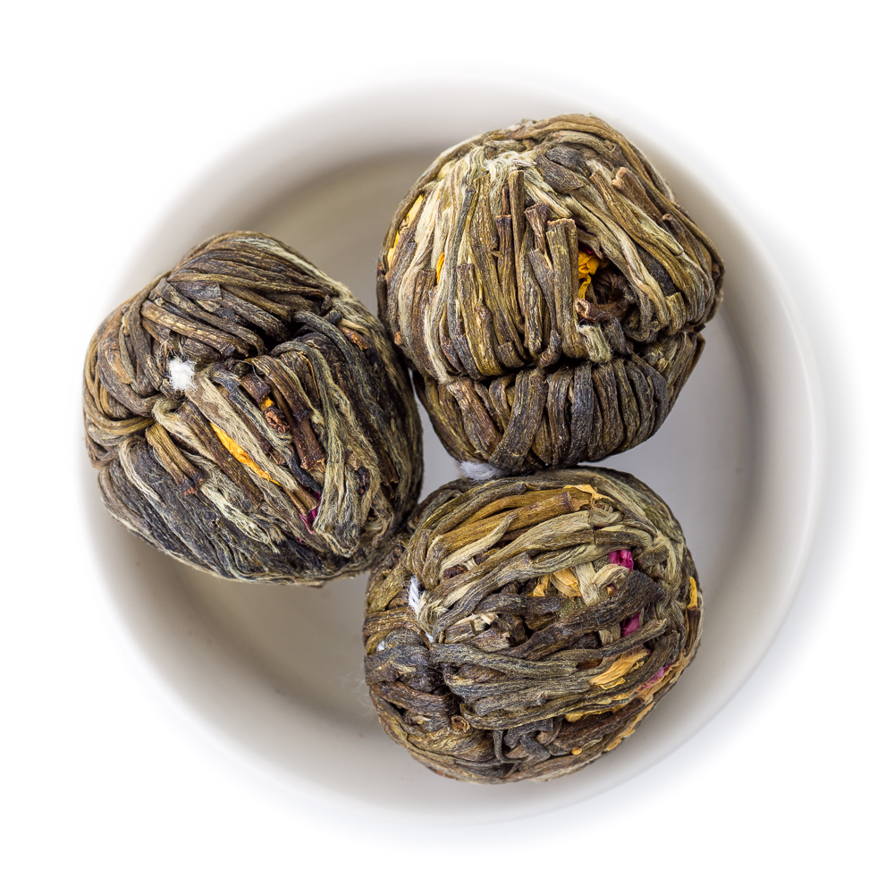 Китайский зелёный связанный чай Бу Бу Гао Шэн (Шаг за шагом поднимаешься выше)