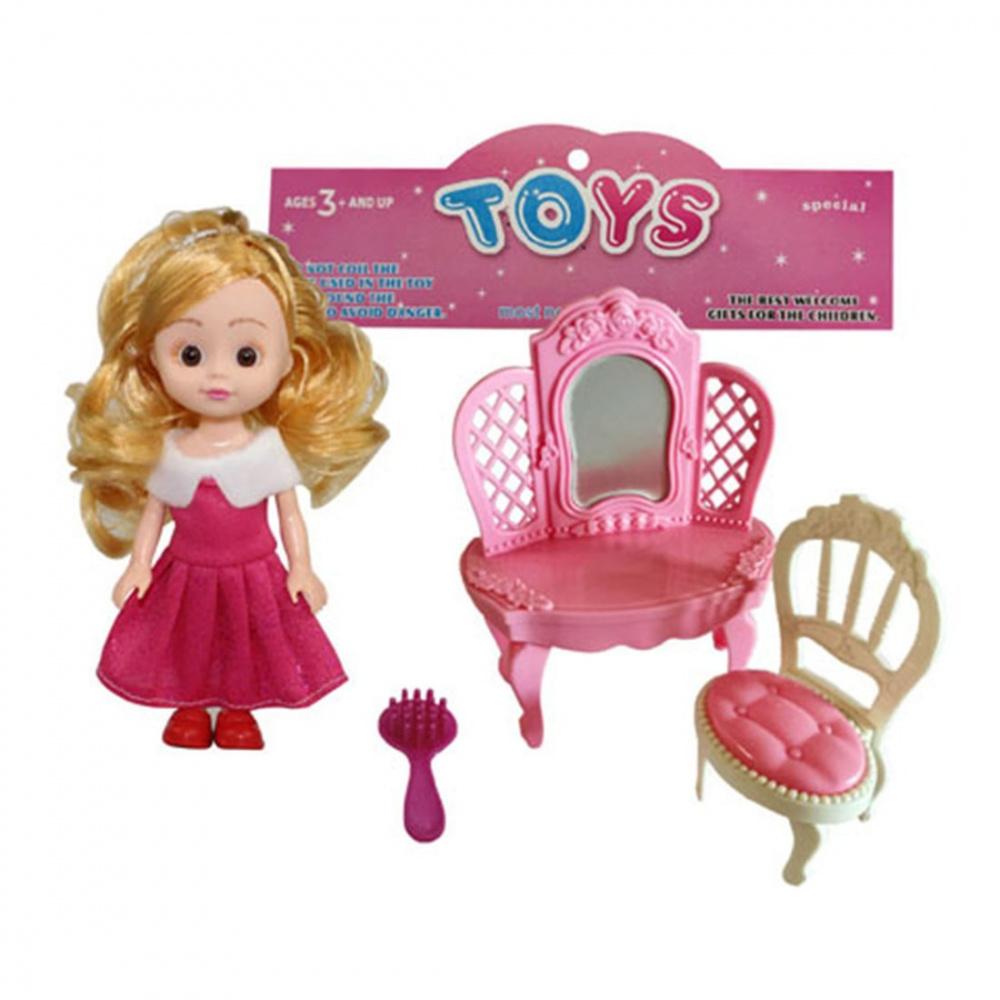 Фото - Набор игровой Наша Игрушка Модница, кукла 15 см, аксессуары кукла наша игрушка на прогулке 15 см лошадка