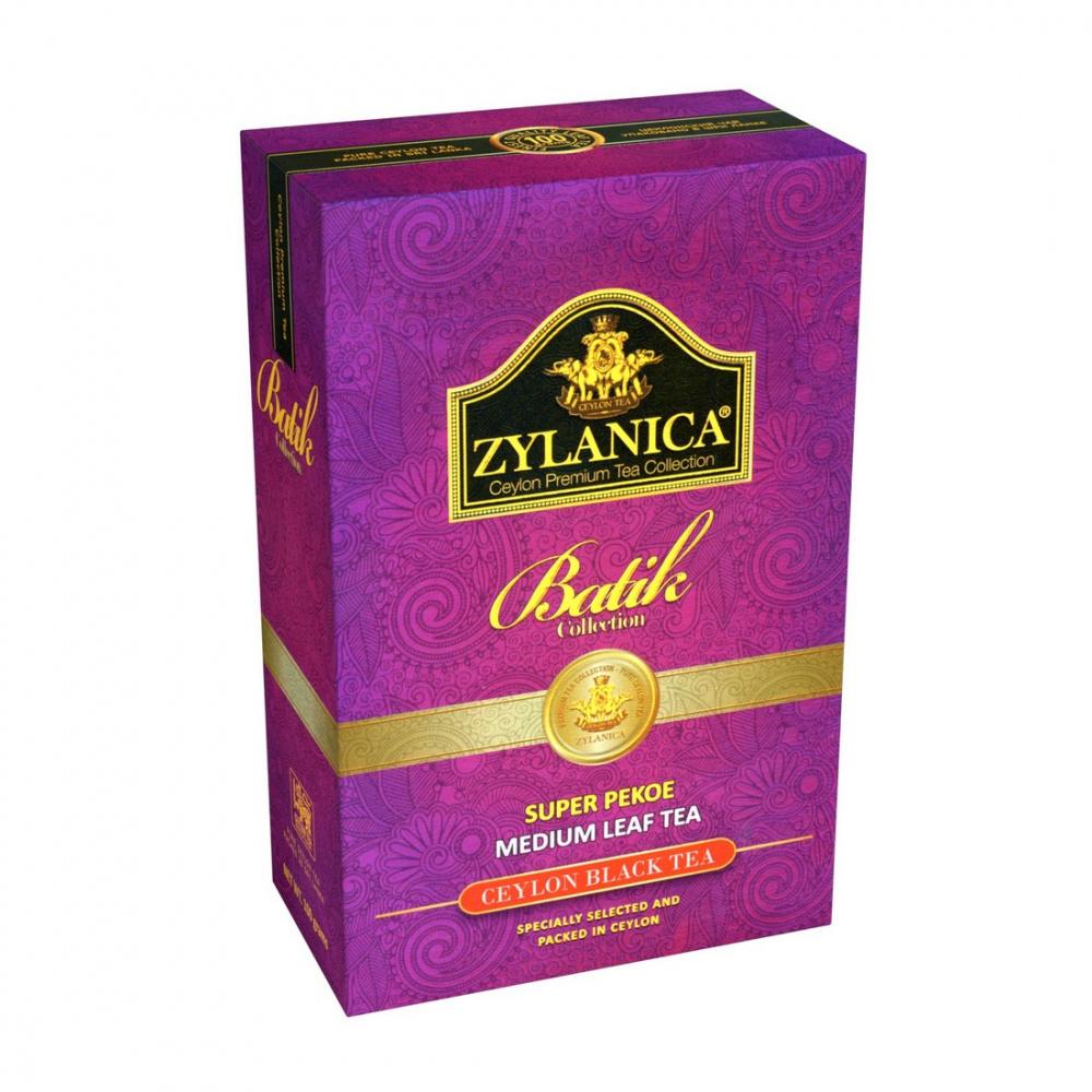 Чай Zylanica Batik Collection, чёрный листовой, Super Pekoe, 100 г