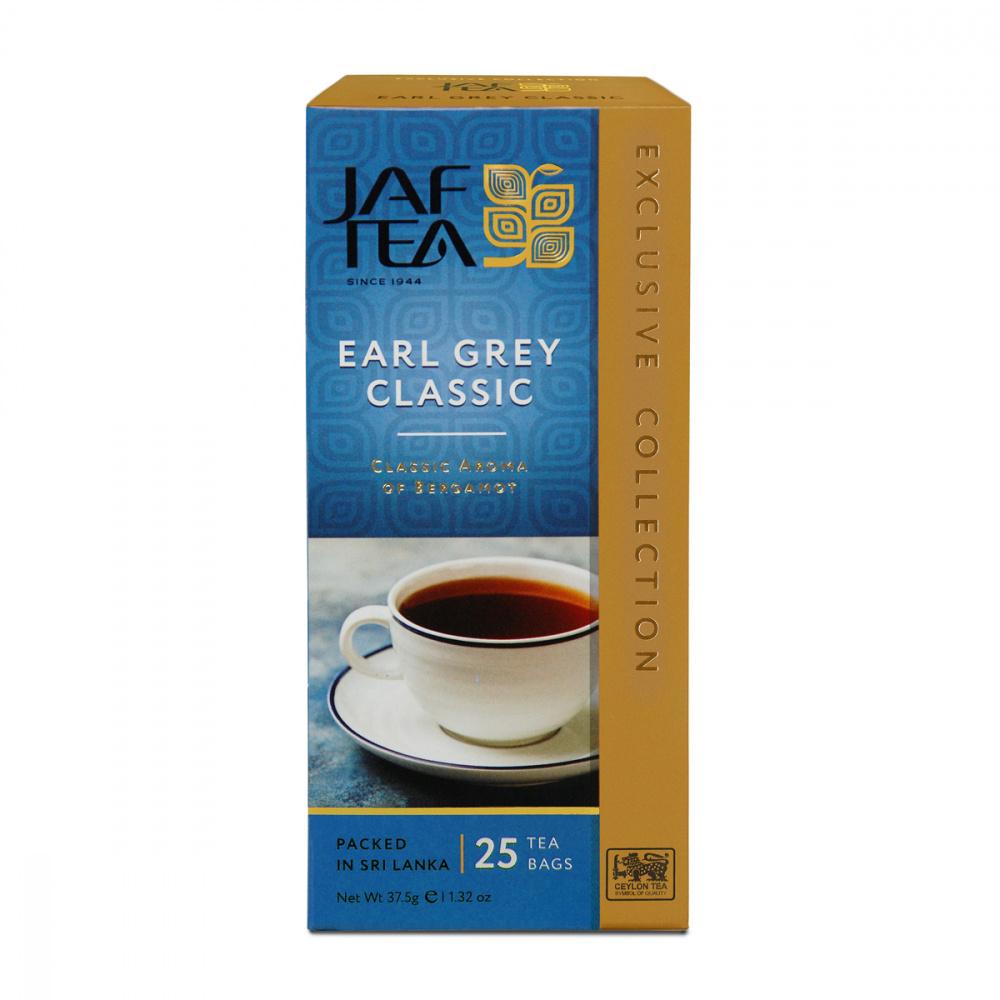 Чай Jaf Tea Earl Grey Classic, черный с бергамотом, 25 пакетиков чай черный lipton earl grey с бергамотом 25 пакетиков