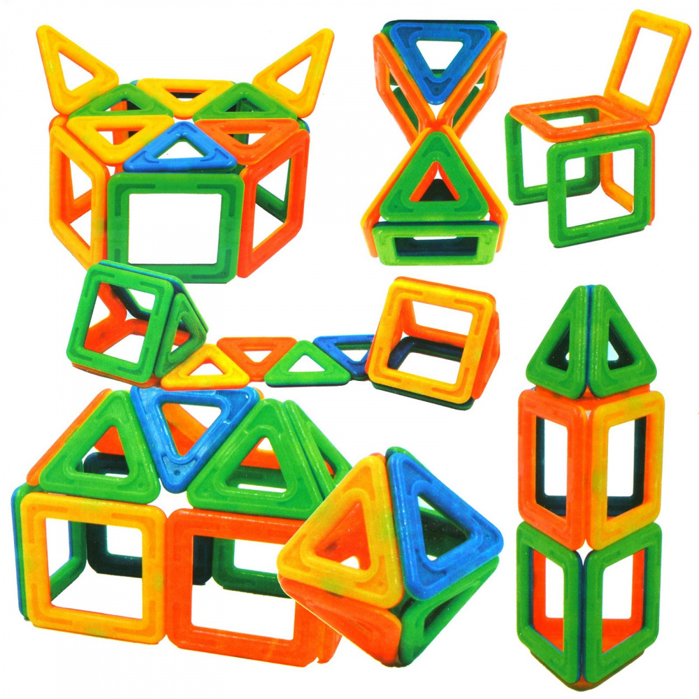 Магнитный конструктор 3D, 14 деталей, ТМ Наша Игрушка конструктор shantou gepai наша игрушка 3d магнитный 52 детали 703 631105