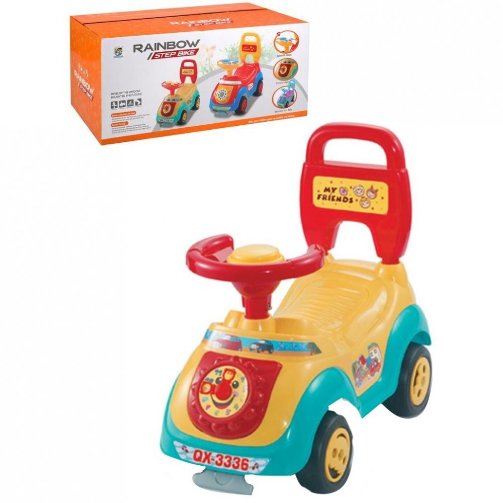 Машина-каталка Наша Игрушка, с часами, гудок, цвет жёлтый