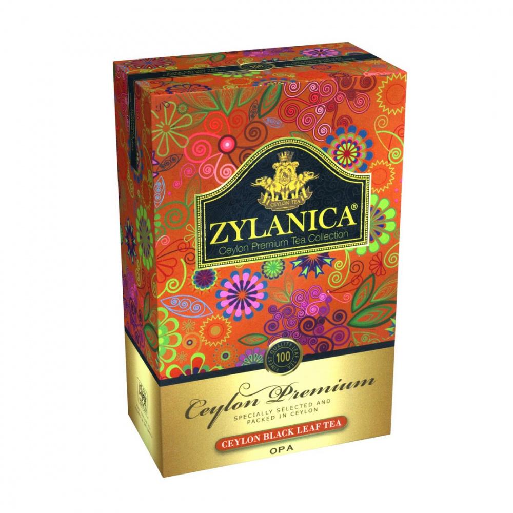Чай Zylanica Ceylon Premium, чёрный листовой, OPA, 100 г
