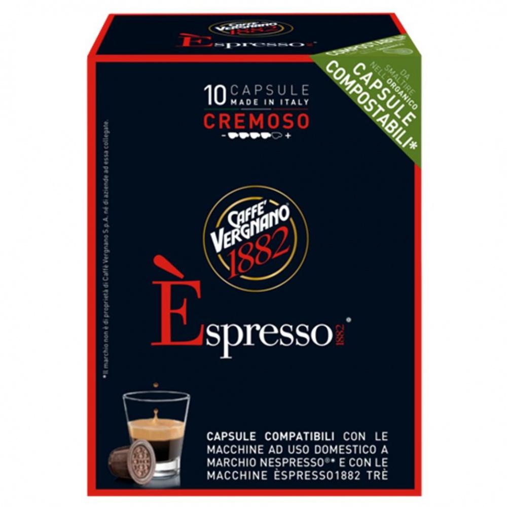 Кофе в капсулах для кофемашин Nespresso Vergnano E'spresso Cremoso, 10 шт