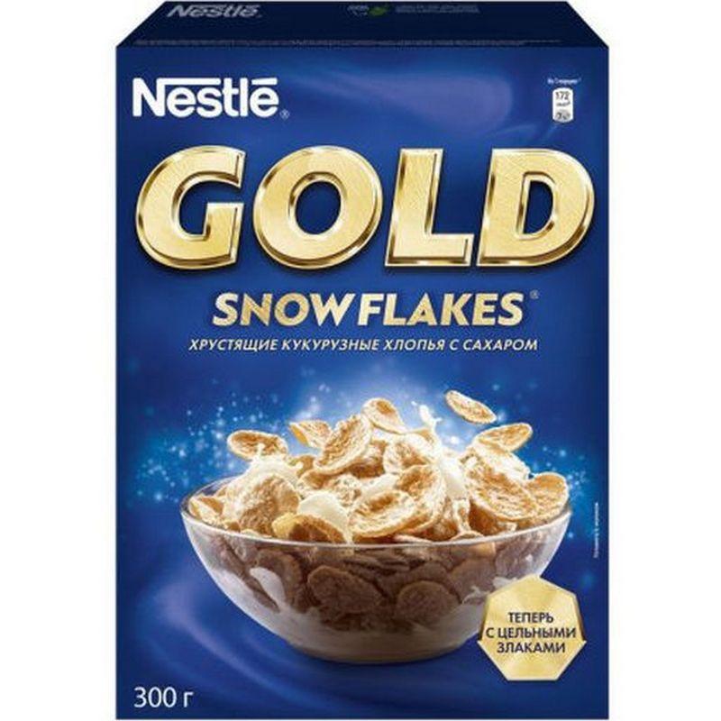 Фото - Хлопья кукурузные Nestle Gold Snow Flakes, с сахаром, 300 г хлопья кукурузные nestle gold snow flakes 300 г