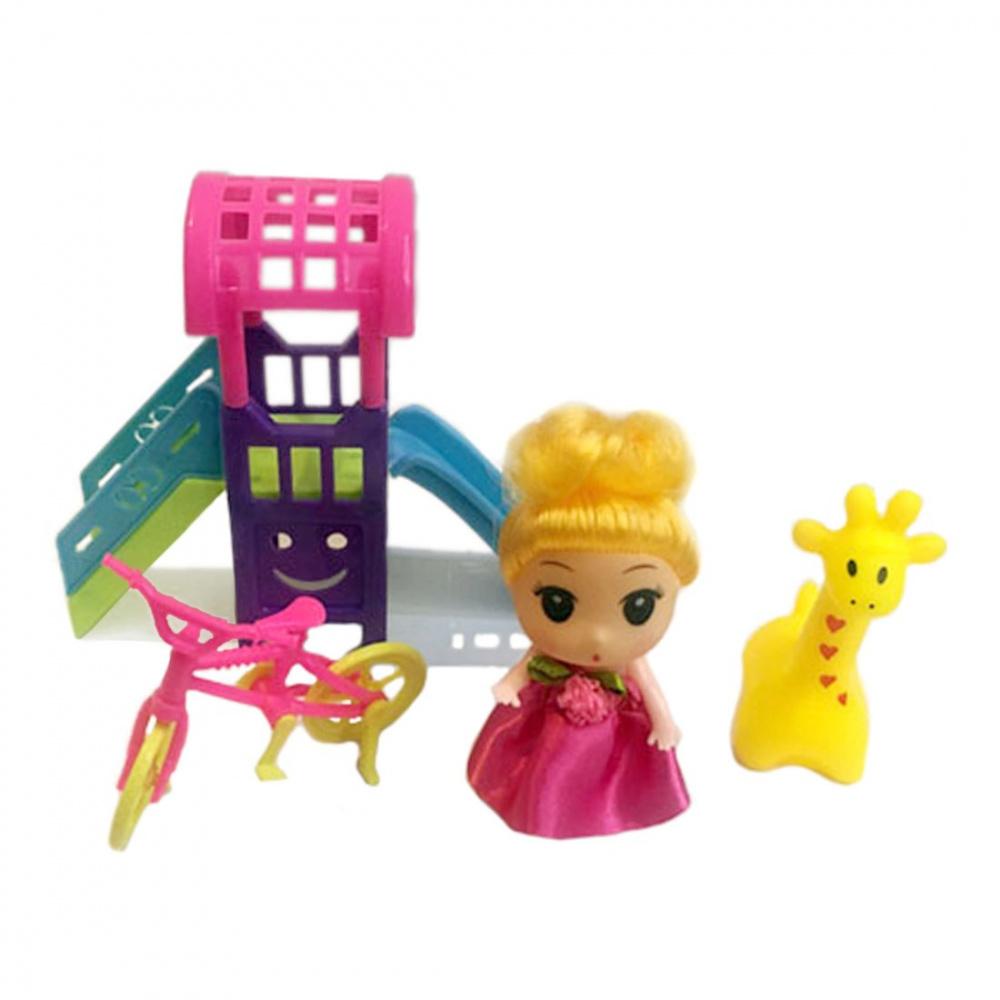 Фото - Набор игровой Наша Игрушка На прогулке, кукла 9 см, аксессуары кукла наша игрушка на прогулке 15 см лошадка