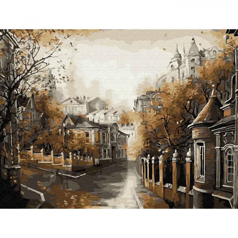 Фото - Картина по номерам Molly Московская осень, с цветной схемой, 16 цветов, 30х40 см картина по номерам с цветной схемой на холсте 30х40 кот рокер 19 цветов kk0610