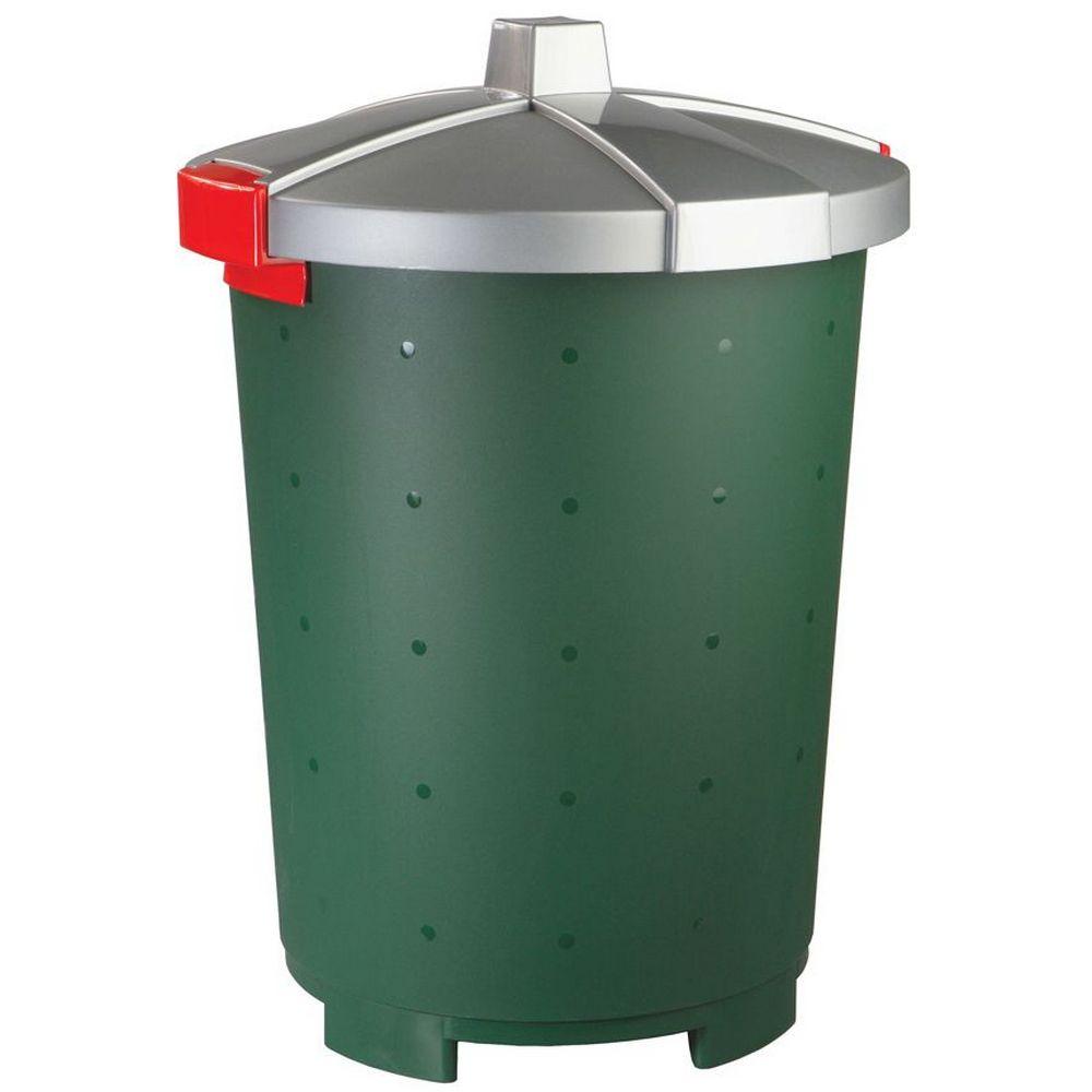 Фото - Бак хозяйственный Phibo Бинго, пластиковый, зеленый, 65 л бак бытпласт хозяйственный 65л