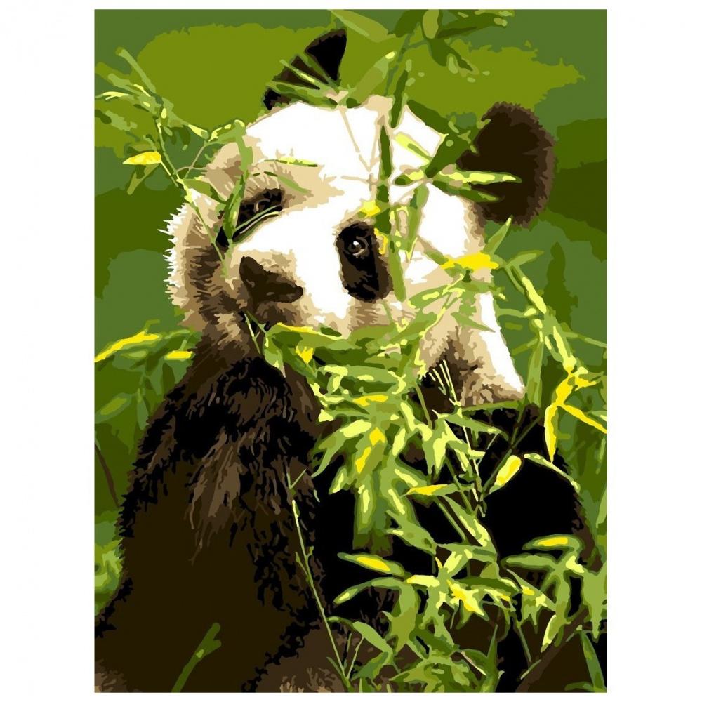 Фото - Картина по номерам Lori Панда, 38х28,5 см картина по номерам lori любопытный щенок 28 5х20 см