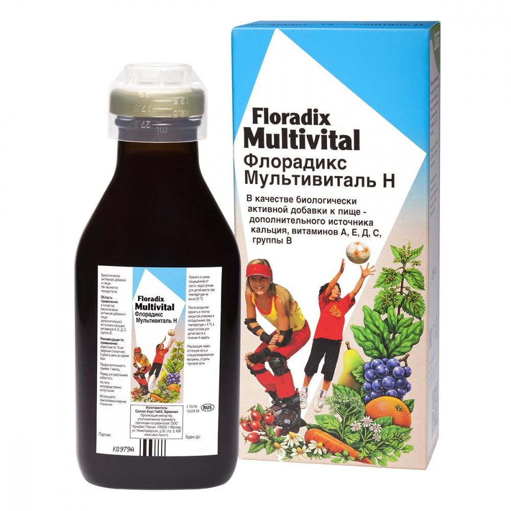 Тоник витаминосодержащий Флорадикс Мультивиталь Н, 250 мл, ТМ Salus-Haus