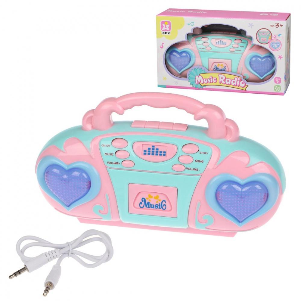 Музыкальное радио, свет, музыка, разъемы для микрофона и MP3, ТМ