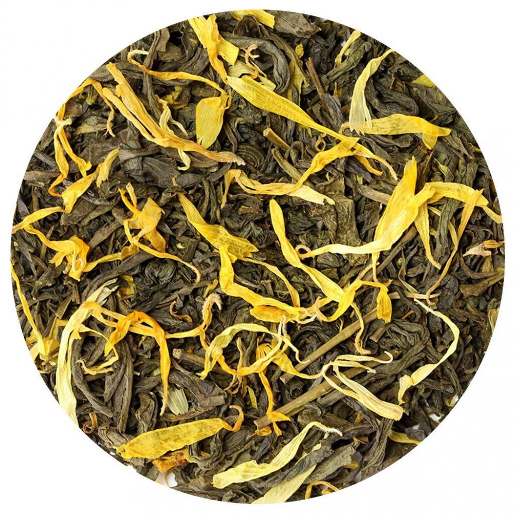 Чай зеленый Подари чай Саусеп, листовой с добавками, 50 г чай хайсон саусеп чёрный листовой c добавками 100г карт