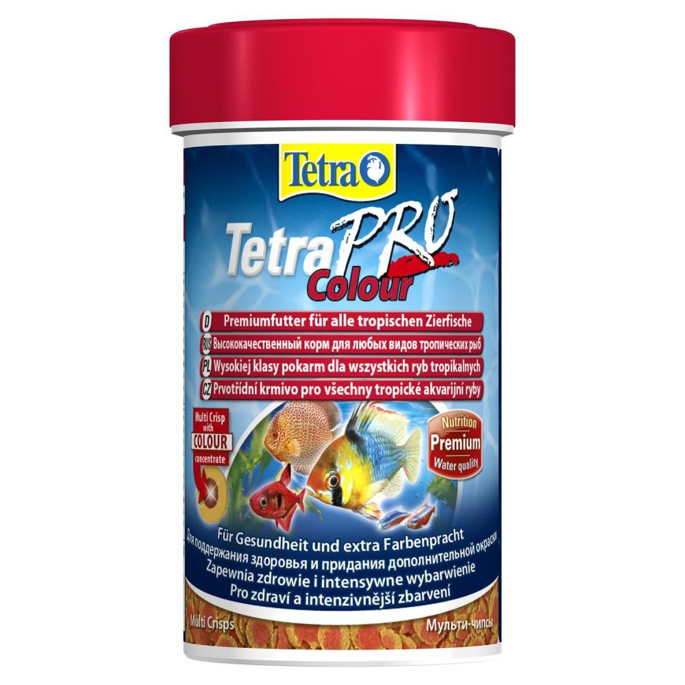 Фото - Корм для декоративных рыб Tetra Pro Color Crisps, для улучшения окраса, в чипсах, 100 мл tetra корм tetra pro color crisps чипсы для улучшения окраса всех декоративных рыб 100 мл