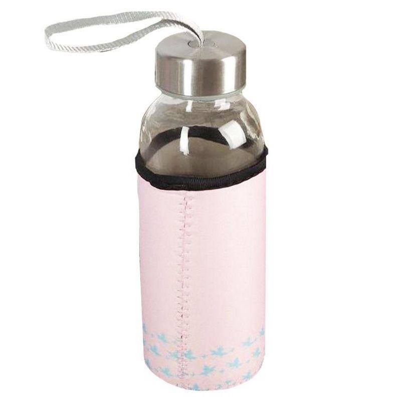 Бутылка для воды Konono, в чехле, розовая, 300 мл