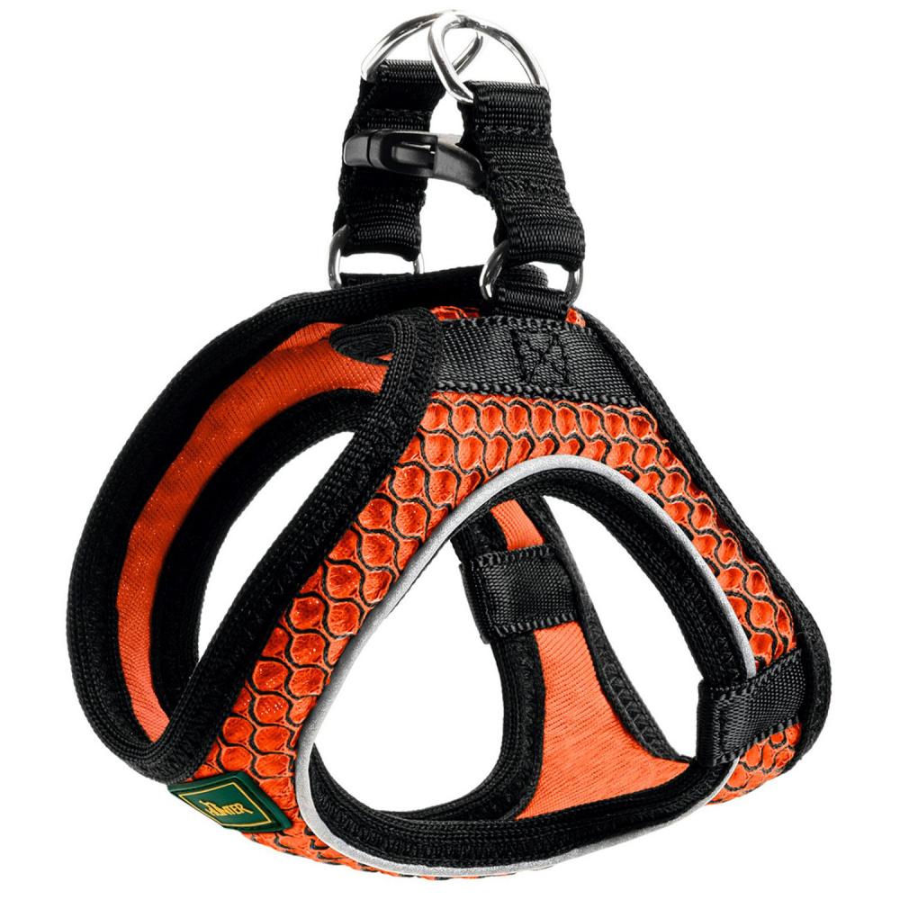 """Шлейка для собак Hunter """"Hilo Comfort"""", 33-36 см, сетчатый текстиль, оранжевая"""