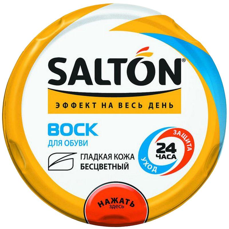 Воск для обуви Salton, для гладкой кожи, с норковым маслом, бесцветный, 75 мл