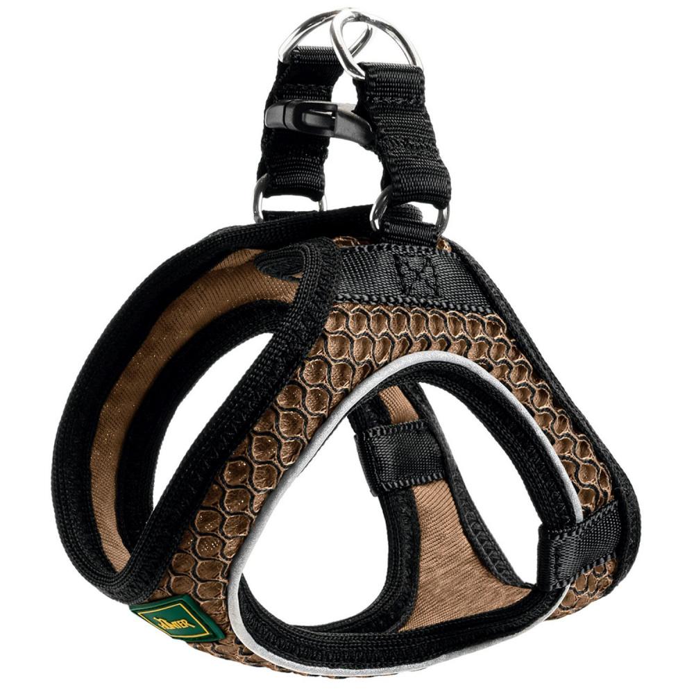 """Шлейка для собак Hunter """"Hilo Comfort"""", 46-52 см, сетчатый текстиль, коричневая"""
