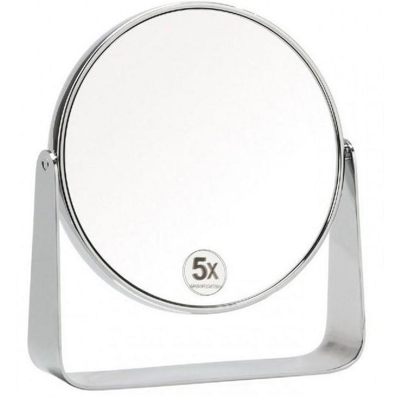 Зеркало настольное Andrea House, круглое, на подставке из металла