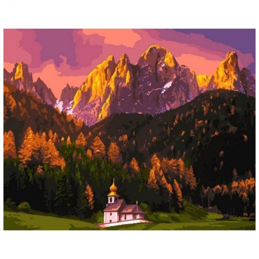 Фото - Картина по номерам Lori Храм в горах, 40х50 см картина по номерам lori любопытный щенок 28 5х20 см