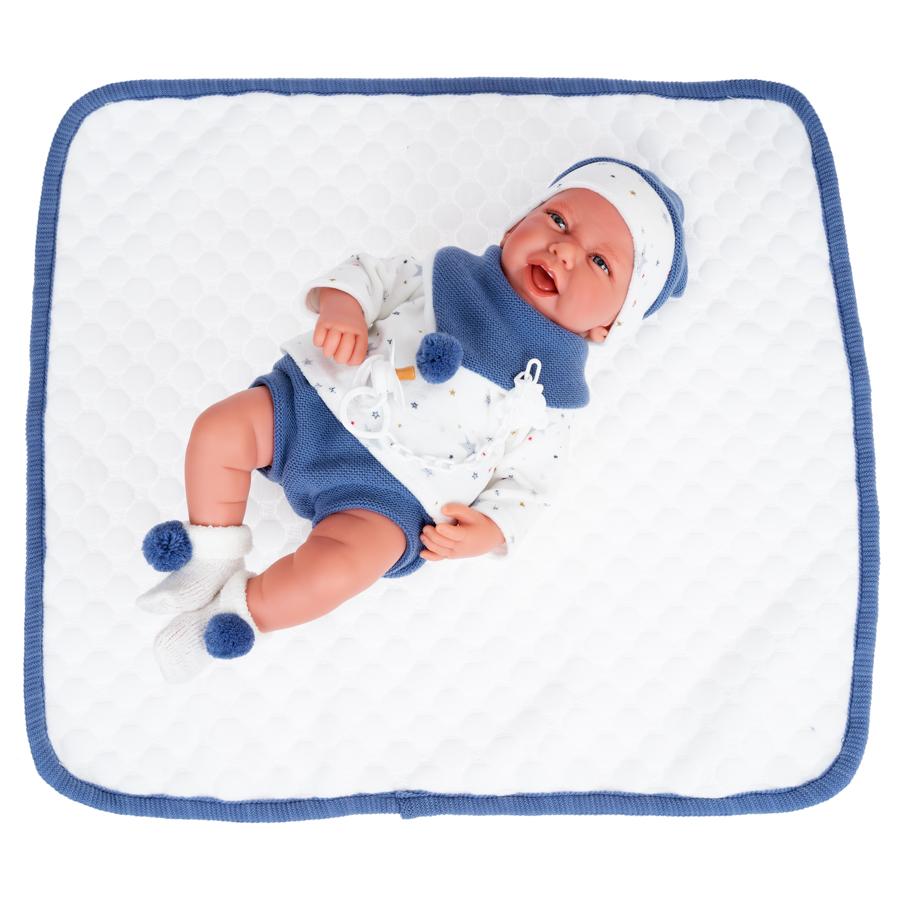 """Кукла Antonio Juan """"Пол"""", в синем, 40 см"""