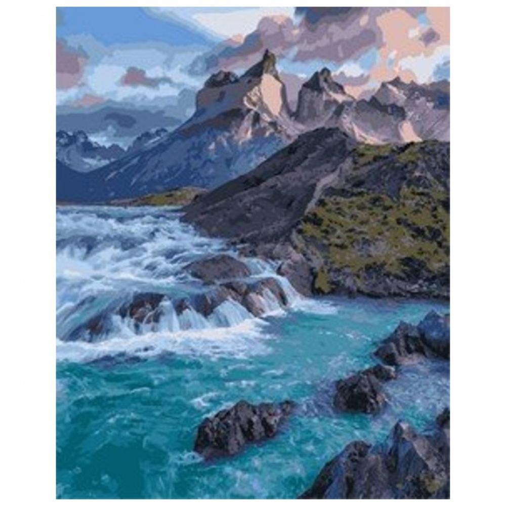 Фото - Картина по номерам Lori Дикое море, 40х50 см картина по номерам lori любопытный щенок 28 5х20 см